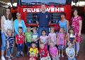 Kita-Kinder zu Besuch bei der Feuerwehr in Hamm/Sieg
