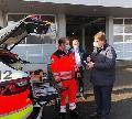 Fahrzeugübergabe an das Deutsche Rote Kreuz