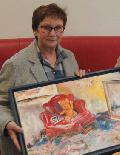 Susanne Marose stellt in der Hachenburger Stadtbücherei aus