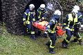 Feuerwehr und DRK übten den Ernstfall im Alvenslebenstollen