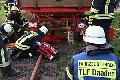 Feuerwehrleute aus vier Einheiten arbeiteten Hand in Hand