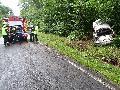 Unfall: Fahrzeug kommt von der Straße ab – eine Person verletzt
