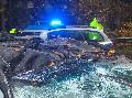 Verfolgungsjagd: Aggressive junge Männer überschlugen sich mit BMW