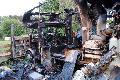 Wohnmobil in Mudenbach ausgebrannt