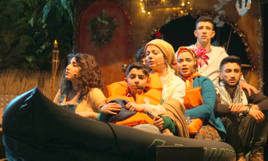 Die Trauminsel, Teil III, mit der Shatat Theatergruppe kam zur Aufführung im Wissener Kulturwerk. (Foto: Abdullah Alnsirat)