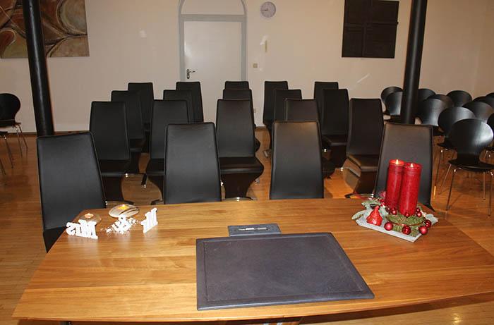 Das neue Trauzimmer des Bendorfer Standesamtes bietet Platz für bis zu 60 Personen. Foto: Stadt Bendorf