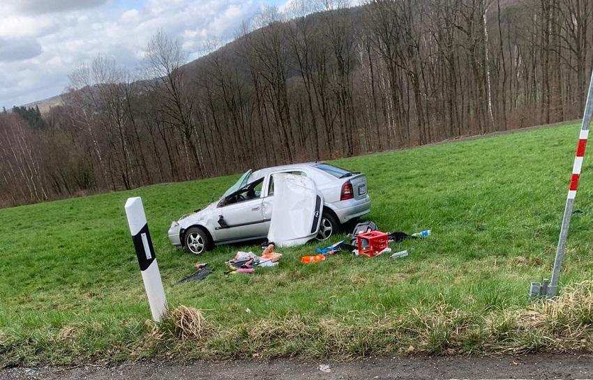 Ein Schwerverletzter bei Unfall auf der K 97