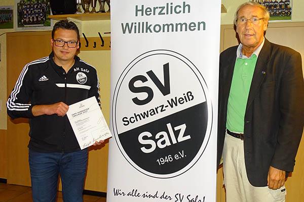 SV Salz wurde Sepp-Herberger-Urkunde verliehen