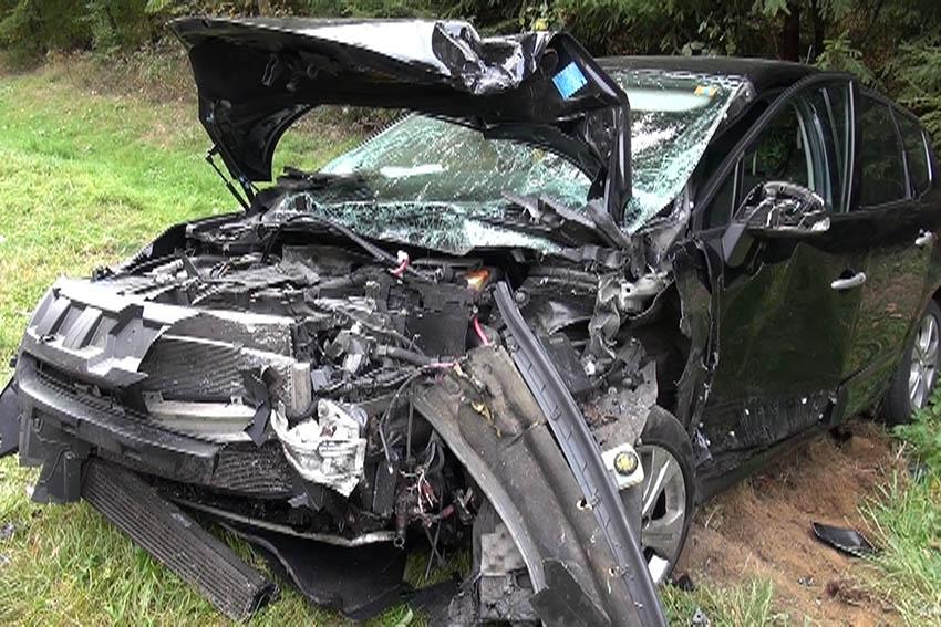Tödlicher Verkehrsunfall auf der B 413 bei Herschbach