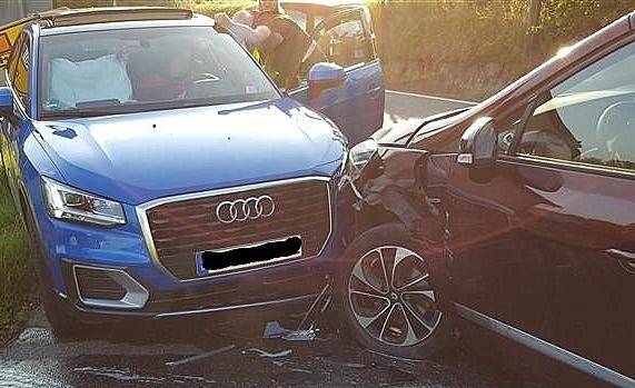 Renault und Audi kollidierten: 20.000 Euro Sachschaden