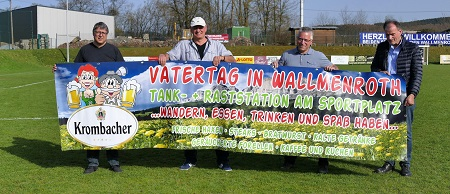 2. Wallmenrother Lattenknaller am Vatertag auf dem Sportplatz