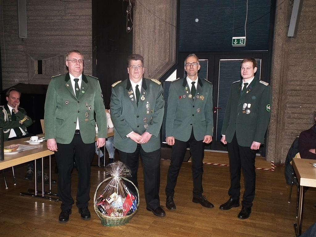 Jahreshauptversammlung der St. Hubertus Sch�tzenbruderschaft Birken-Honigsessen