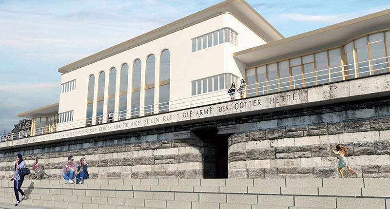 So könnte die Deichkrone nach Ideen von Architekt Ralph Schulte aussehen.