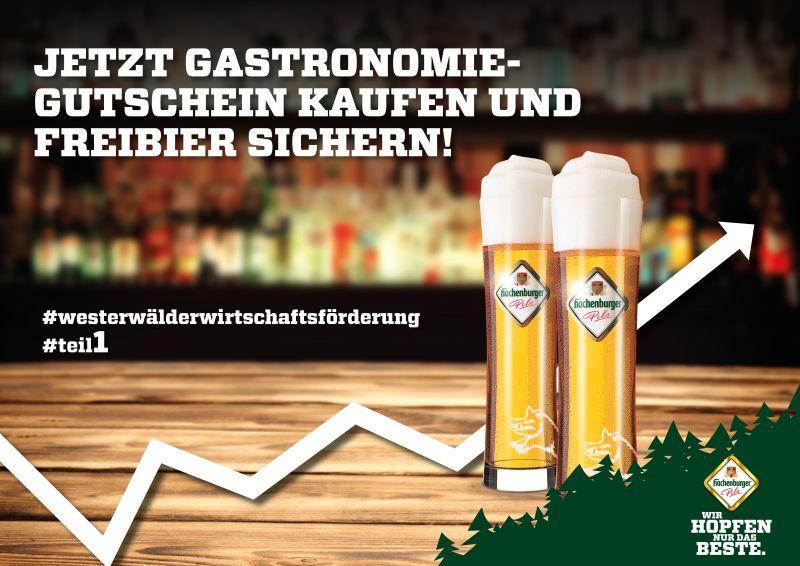 Wirtschaftsförderungs-Aktion der Westerwald-Brauerei. Foto: Hachenburger Brauerei