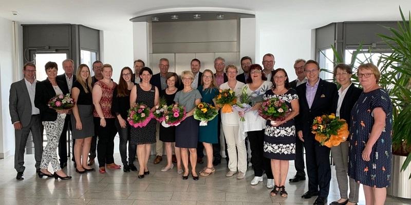 Die Westerwald Bank ehrte langjährige Mitarbeiter