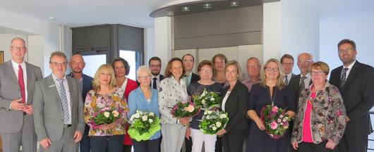 Gratulationen und Abschiede bei der Westerwald Bank