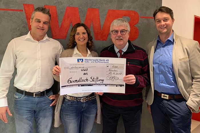 Gundlach-Stiftung erhält erneut Spende von WWB
