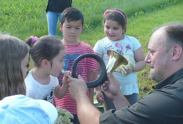 Zu Gast im Jagdrevier: Vorschulkinder erkundeten die Natur