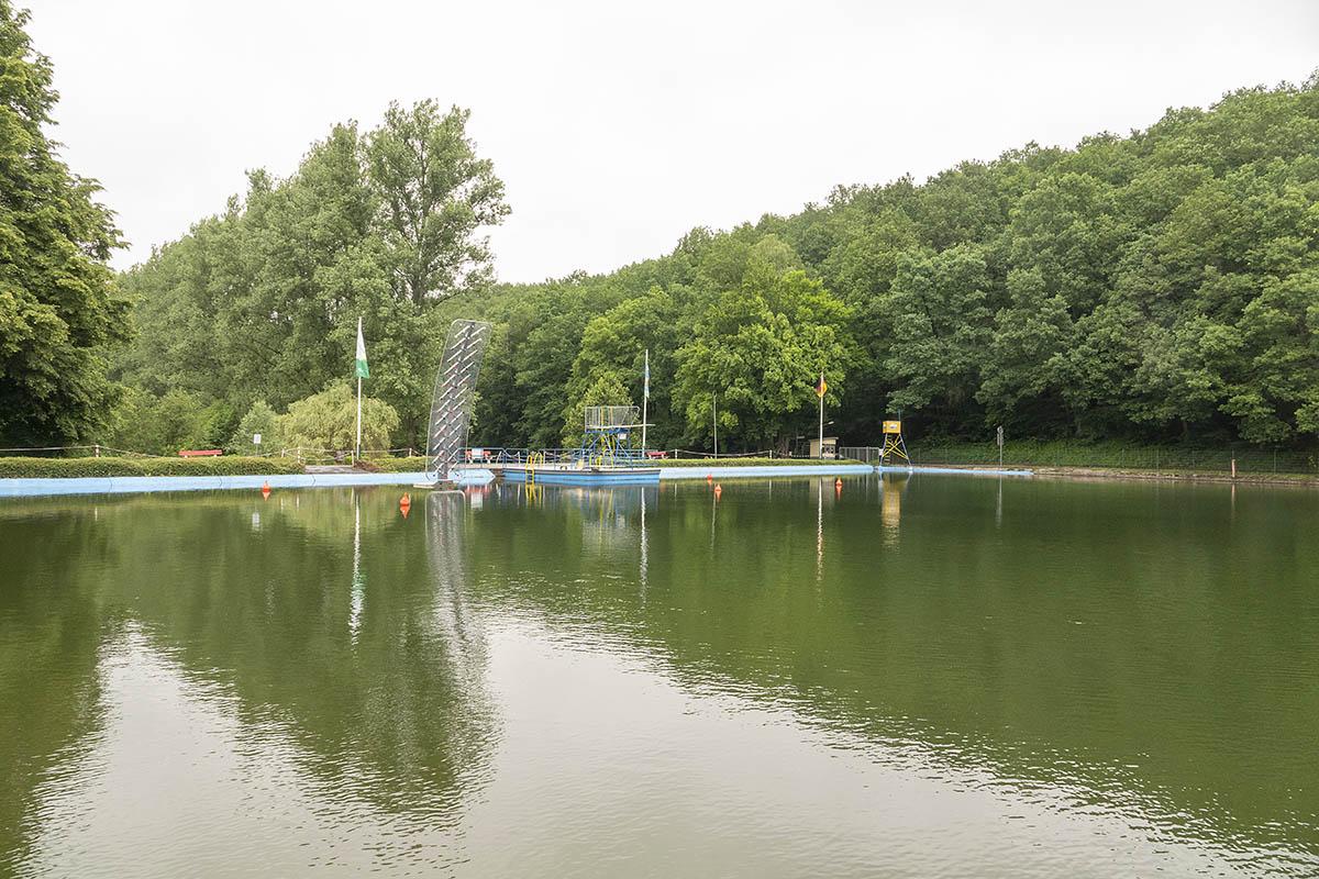 Eine besondere Attraktion: Waldschwimmbad Thalhausermühle