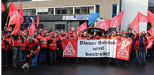 Warnstreik bei Federal Mogul in Herdorf