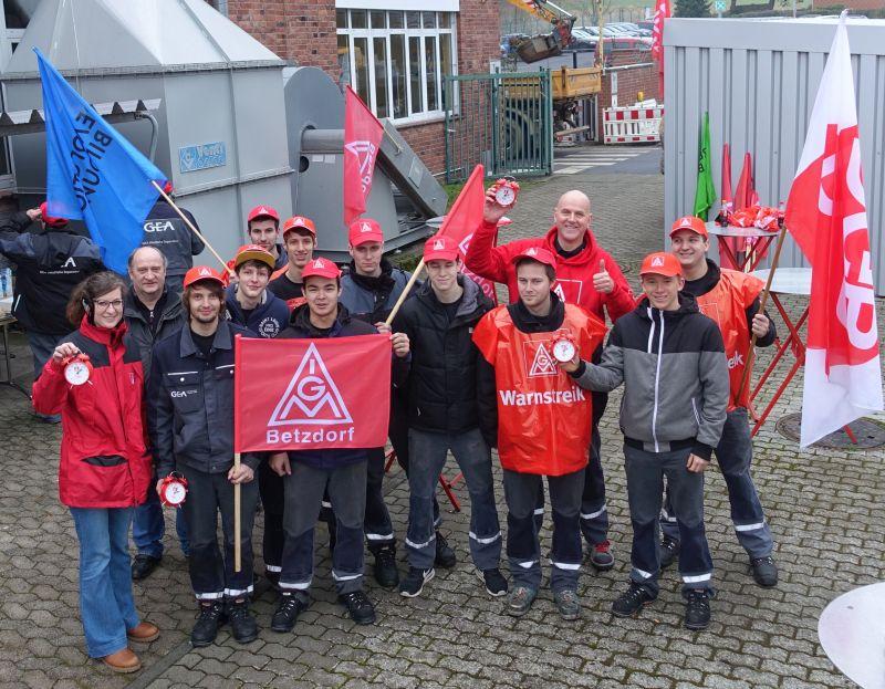 DGB Kreisverband Westerwald unterstützt Warnstreiks der IG Metall