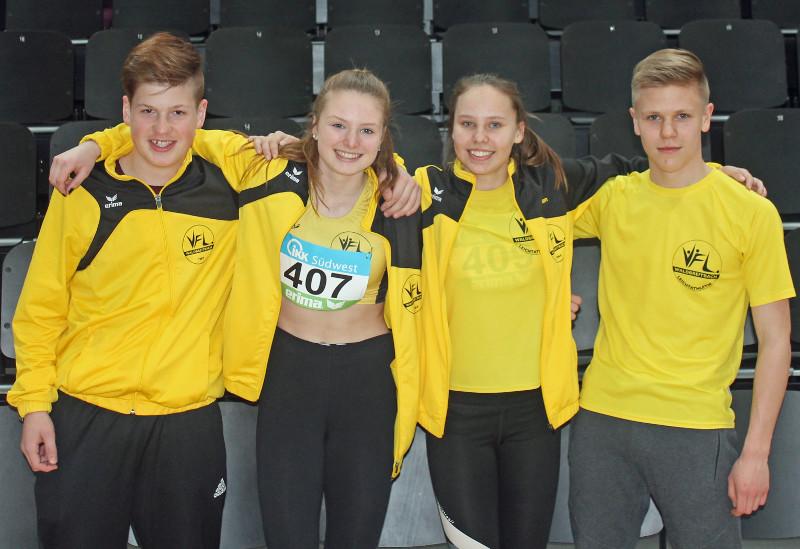 Drei Podestplätze waren für VfL-Jugendliche bei Rheinland-Hallenmeisterschaften U16 in Koblenz drin. Foto: Verein