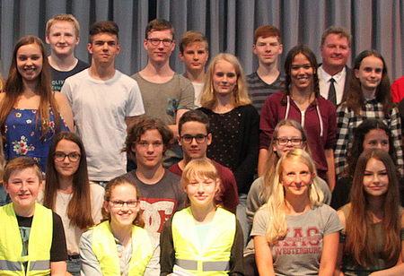 Das Konrad-Adenauer-Gymnasium in Westerburg feierte im Rahmen des diesjährigen Sommerfestes die Neugründung eines Schulsanitätsdienstes. (Foto: Ulrike Preis)