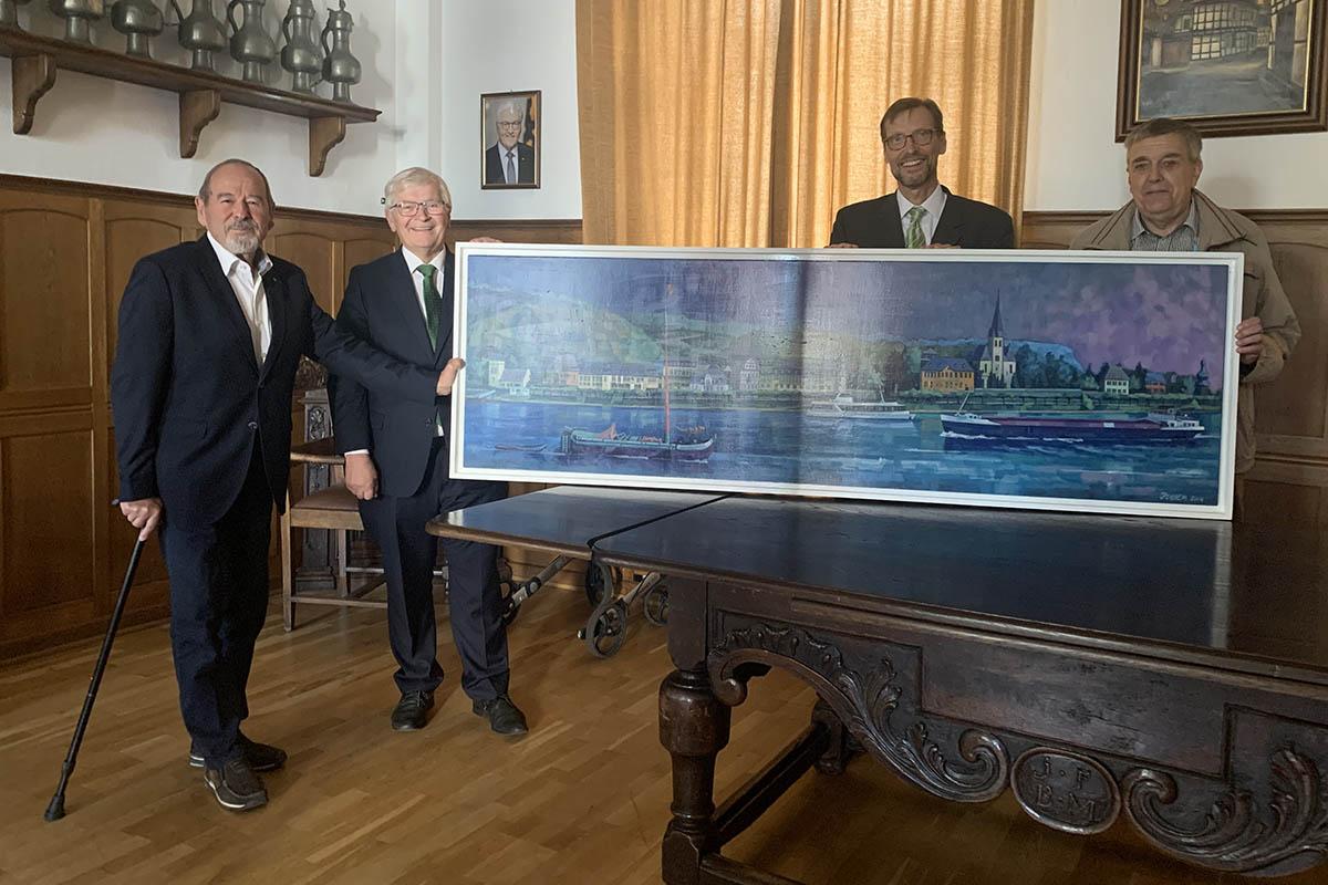 Kulturstadt erhält großes Juchem-Gemälde