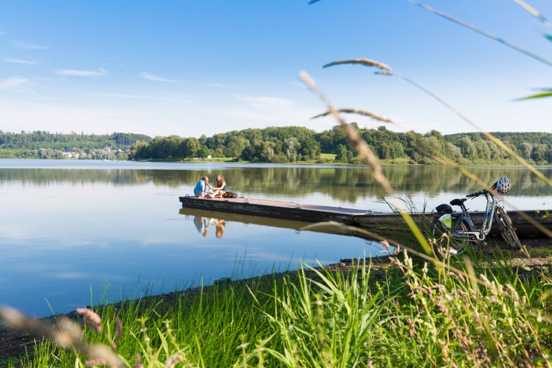 Auf dem 5-Seen-Radweg Natur und Wasser genießen