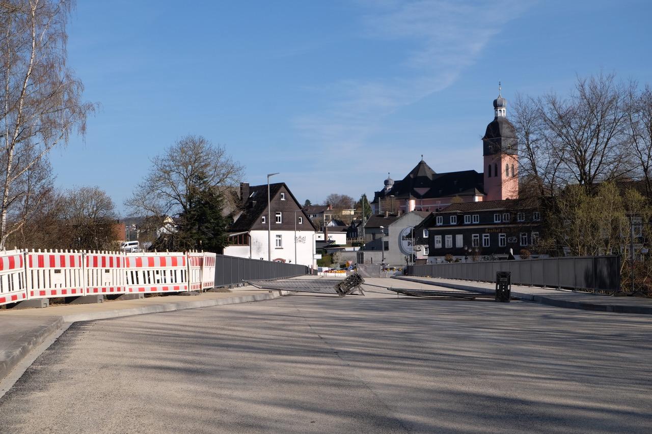 Siegbrücke in Wissens Altstadt frühzeitig freigegeben (aktualisiert)
