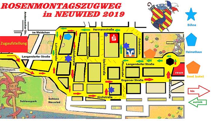 Rosenmontag 2021 Zugweg