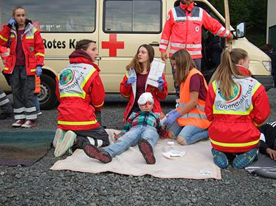 Jugend der Feuerwehr und des JRK zeigten ihr Können