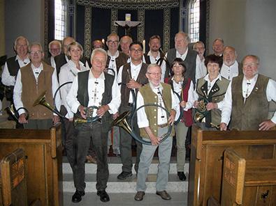 Jagdhorngruppe des Hegering Hamm/Sieg auf Tour