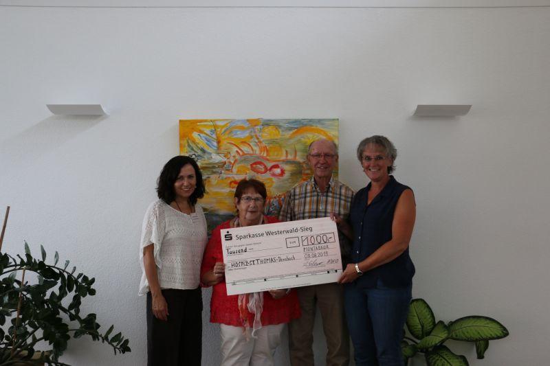 1.000 Euro für Hospiz St. Thomas in Dernbach