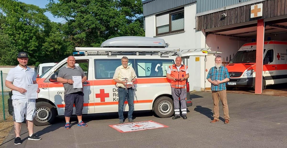 DRK Puderbach bekommt Spenden für Drohnenstaffel