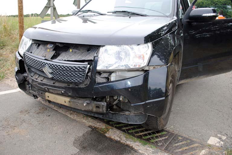 Erneut Unfall am Bahn�bergang Michelbach mit HLB