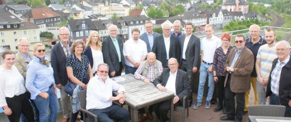CDU-Fraktionschef Christan Baldauf kam zum Wahlkampfendspurt