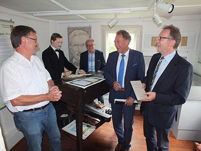 Staatssekret�r Barthle besuchte Raiffeisenmuseum