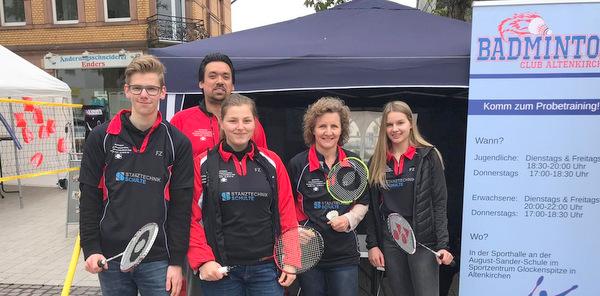 Der Badminton-Club Altenkirchen nahm am Stadtfest teil