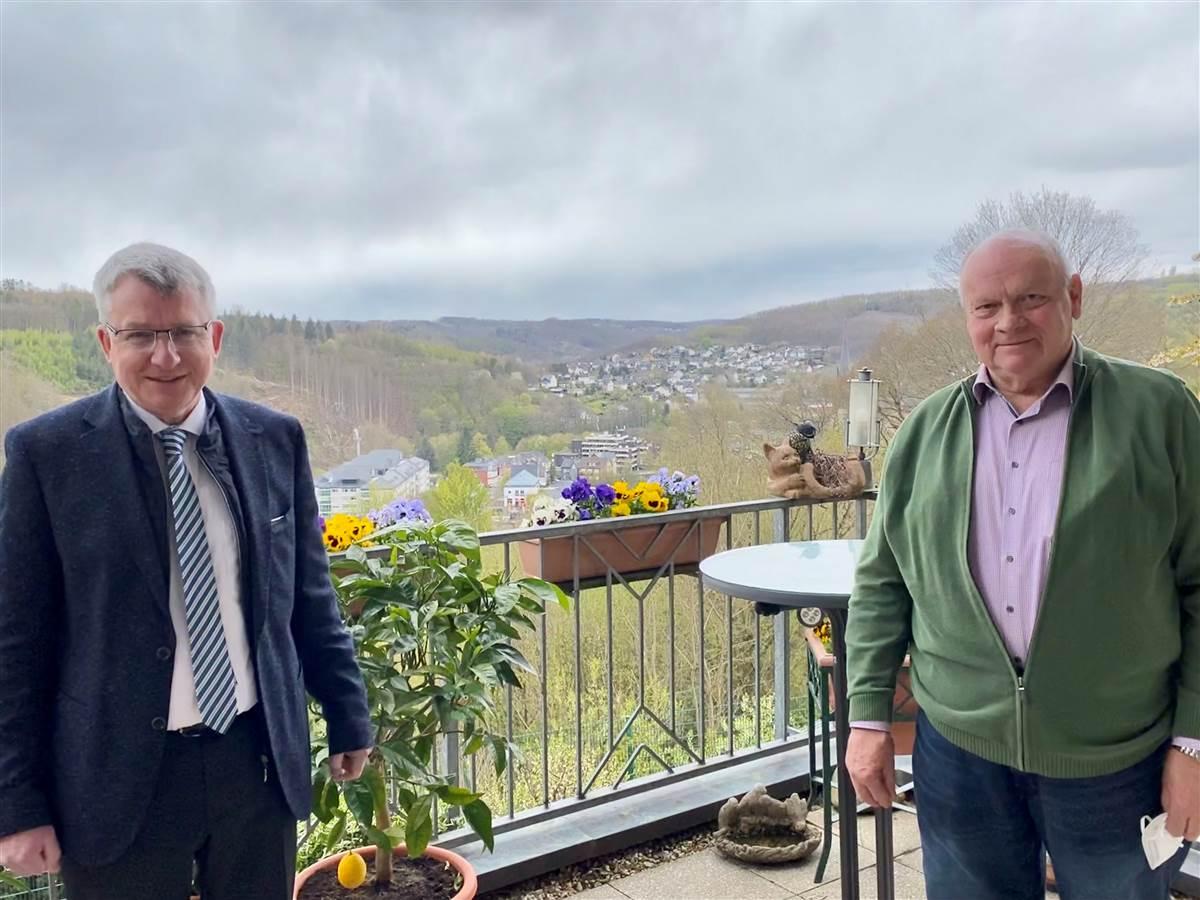 VG Kirchen: CDU-Bürgermeisterkandidat Conrad trifft ehemaligen Wirtschaftsförderer