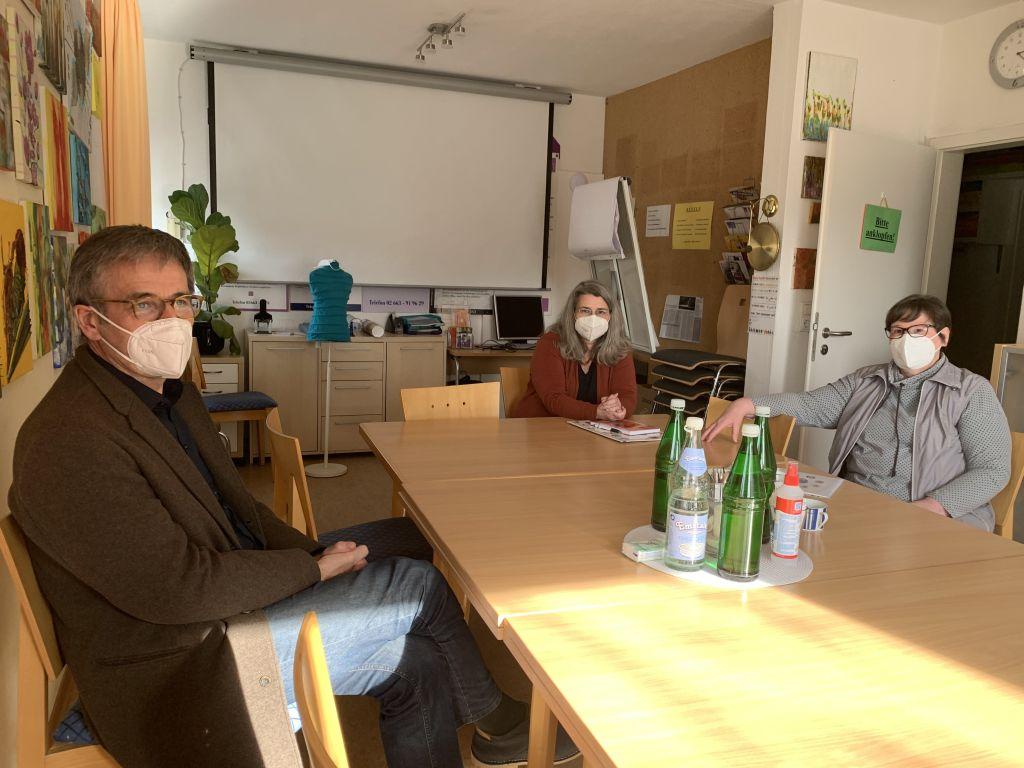 Besuch von Landtagspräsident Hendrik Hering im Frauenzentrum Beginenhof