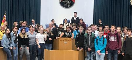 Ungarische und deutsche Schüler besuchten den Mainzer Landtag