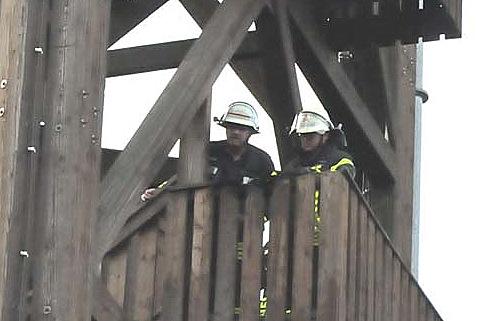 Feuer am Raiffeisenturm konnte schnell gelöscht werden