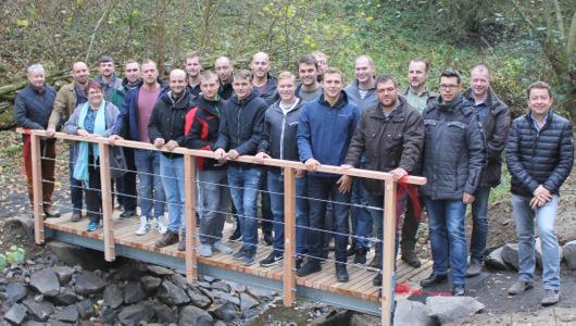 Neue Brücke im Binnbachtal offiziell eröffnet