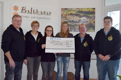 Bundesjungschützentage: Spende an das Kinderhospiz Balthasar