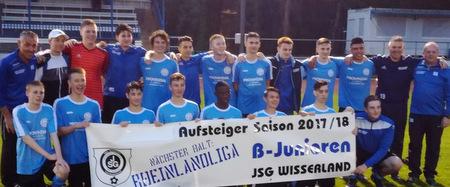 B-Jugend der JSG Wisserland steigt in die Rheinlandliga auf