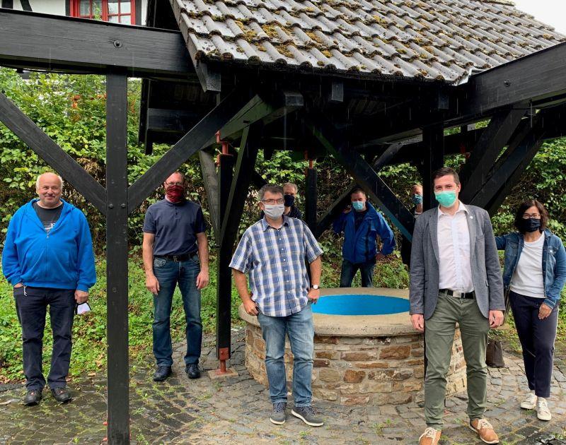 Janick Pape informiert sich in Streithausen