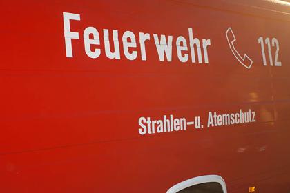 Brand in Hamm/Sieg: Fenster und T�ren geschlossen halten