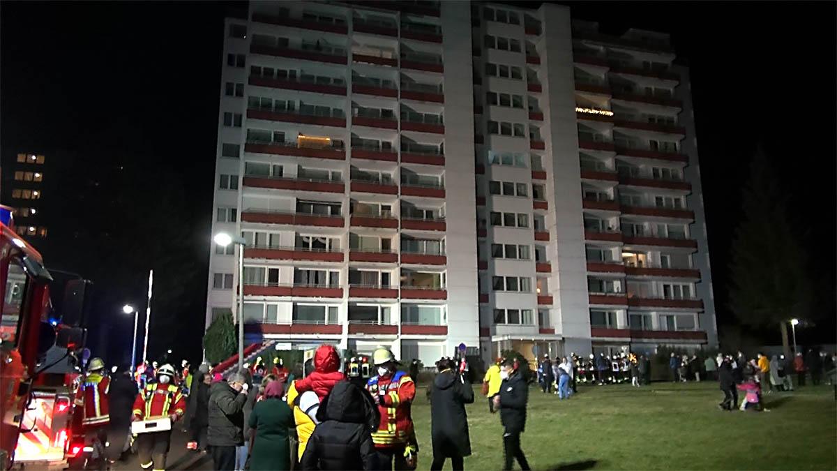Brand im Hochhaus Ransbach-Baumbach - 120 Personen evakuiert