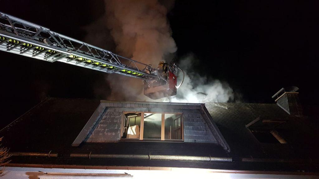 Nächtlicher Wohnhausbrand in Seck